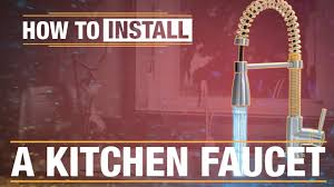 Uberhaus Kitchen Faucet How To Install A Kitchen Faucet Youtube
