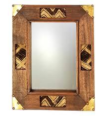 handmade kuba cloth african mirror african home decor swahili