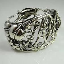 antique sterling silver cuff bracelet images Antique victorian art nouveau silver bracelet bangle cuff jpg