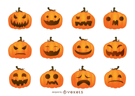 halloween vector pumpkins set vector download