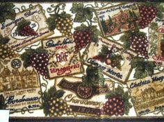 Vineyard Kitchen Rugs This Wine Themed Tablecloth Features Grapes Wine Bottles Estates