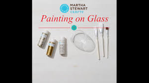 how to paint glass votives with martha stewart crafts youtube