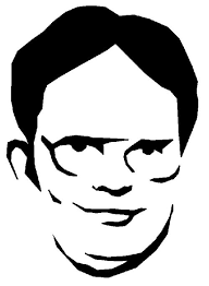pumpkin carving template of dwight from the office halloween