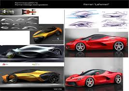 ferrari laferrari sketch car design and my life