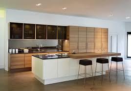 contemporary kitchen wood veneer wooden island edition