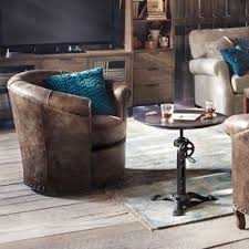 swivel leather chairs living room small leather swivel chairs foter