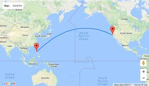 San Francisco On World Map by From San Francisco To Manila The Philippines For 461
