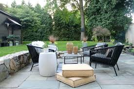 by the yard furniture outdoor space with decking and pastel painted