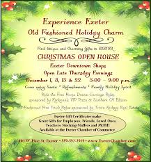 exeter christmas open house in downtown exeter exeter chamber of