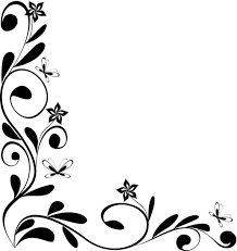 flower corner border clip art clipart panda free clipart images