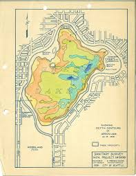 Seattle Maps by Green Lake Depth Contour Map 1938 Created As Part Of A Wp U2026 Flickr