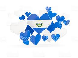 Salvadoran Flag Flag Of El Salvador Heart Shaped Stickers Stock Photo Istock