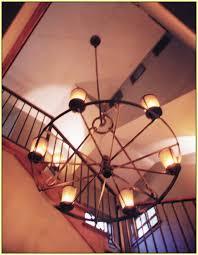 Diy Wagon Wheel Chandelier Impressive Wagon Wheel Chandelier Diy Home Design Ideas As Wells