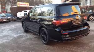 infiniti qx56 black body kit for infiniti qx80 optimus black edition youtube