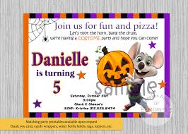 halloween party e invitations halloween chuck e cheese birthday invitations any age chuck