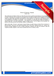 Durable Power Of Attorney Maine by Free Printable Power Of Attorney General Legal Forms Free Legal