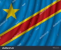 Dr Congo Flag Democratic Republic Congo Flag Vector Illustration Stock Vector
