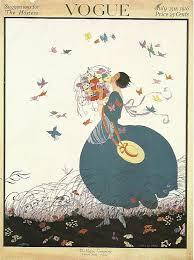 Vogue Home Decor Vogue Magazine Cover 1916 Art Deco Fashion Butterflies Flowers