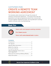 Managers Meeting Agenda Template by Remote Team Working Agreement Lucid Meetings