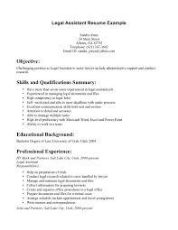 examples of legal assistant resumes resume for your job application