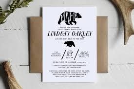 printable mama bear rustic baby shower invitation custom