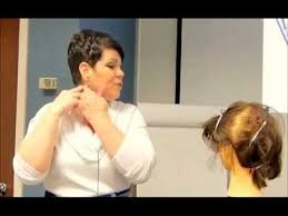 hair under ears cut hair how to cut thin hair above the ear in women s hair cutting youtube