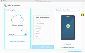 icloud sign in on android wondershare mobiletrans for mac user guide icloud backup to android