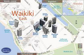map of waikiki waikiki east condo map honolulu oahu hawaii