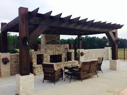 outdoor fireplace pergola