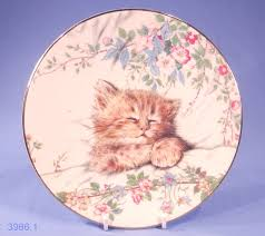 royal worcester kitten classics 21cm bone china display plate
