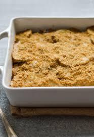 vegan thanksgiving sides potato gratin with cashew sauce shiitakes