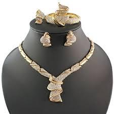 necklace jewellery set images Fashion women 18k gold plated africa dubai wedding jpg