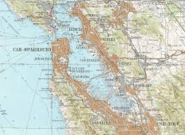 san francisco map cold war russian map of san francisco bay bayarea