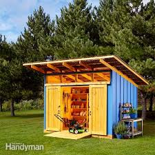 Free Do It Yourself Shed Building Plans by Shed Plans Storage Shed Plans The Family Handyman