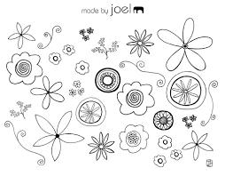 free doodle collage sheet printable freebies pinterest free