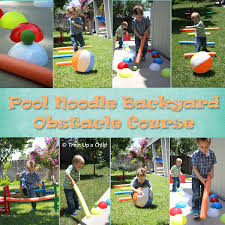 Backyard Obstacle Course Ideas The Independent Little Bee Hello Pool Noodle