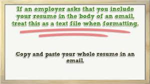 formatting your resume helpful tips for emailing your resume youtube