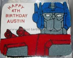 optimus prime cake pan coolest transformers cake ideas and decorating tips