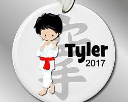 karate personalized ornament martial arts ornament