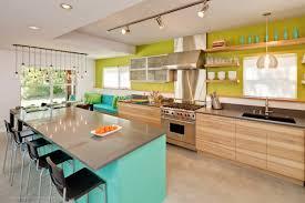 kitchen mid century modern tile fireplace wooden painted kitchen
