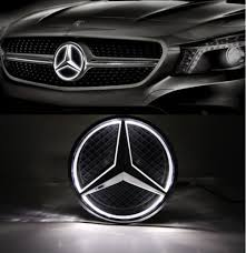 mercedes benz logo amazon com cszlove car front grilled star emblem led illuminated