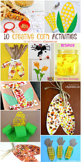 10 corn themed activities for thanksgiving science crafts math