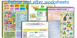 english teaching worksheets before and after