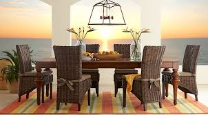 cindy crawford home key west tobacco 5 pc rectangle dining room