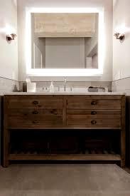 photos hgtv bathroom boasts lighted mirror and dresser style
