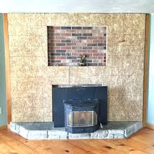 stone veneer fireplace installation cost over brick diy stone