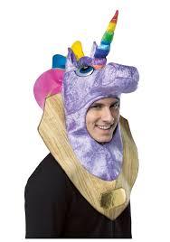 unicorn halloween costume trophy head unicorn hood