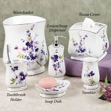 Bathroom Decor Set by Home Bath Bath Accessories Pergola Floral Bath Accessories From