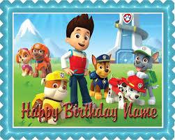 paw patrol 2 edible birthday cake cupcake topper u2013 edible
