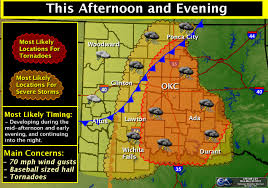 Severe Weather Map Information Services Chronology For The May 20 2013 Severe